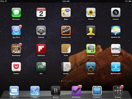 Sedona Milky Way iPad home screen
