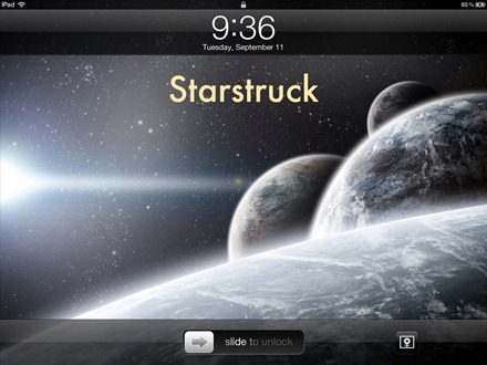 Starstruck iPad lock screen
