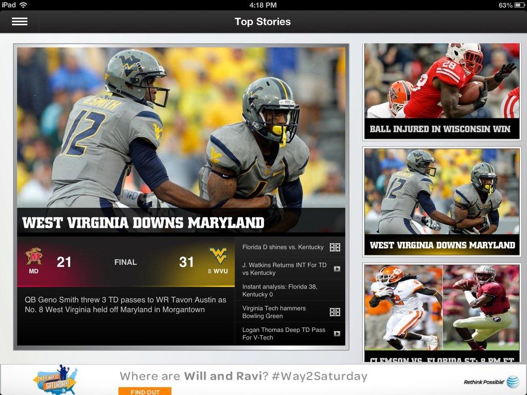 espn college football news best college football app