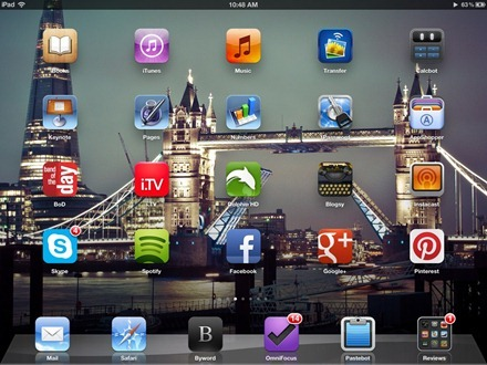 Tower Bridge iPad home screen