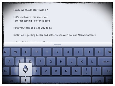 iPad Dictation Commands