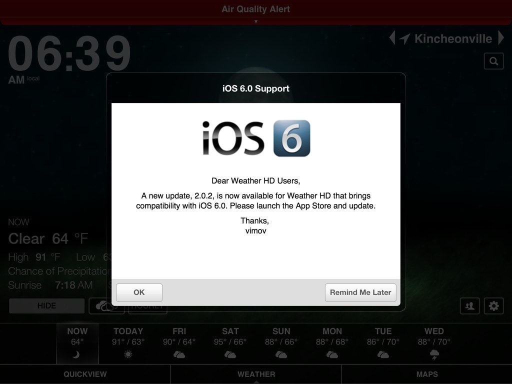 some ipad apps now prompting when they have an ios 6 update ipad