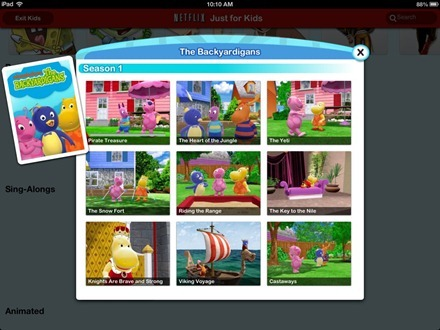 Backyardigans on Netflix Just for Kids