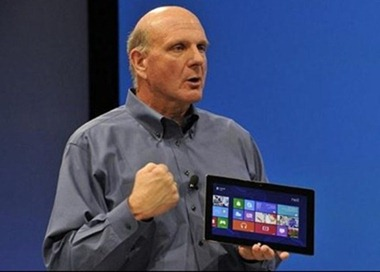 Ballmer with Surface tablet