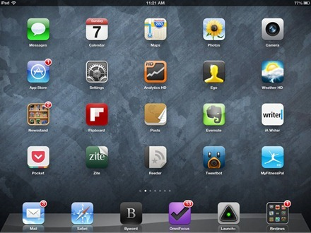 BlueGrey iPad home screen wallpaper