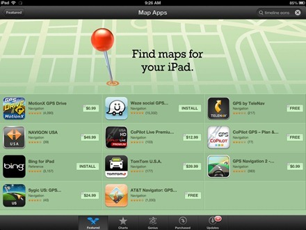 Find Maps for iPad