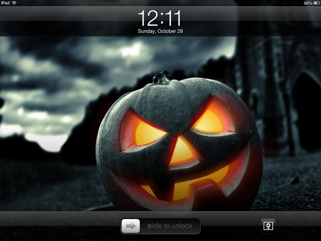 Halloween IPad Lock SCreen
