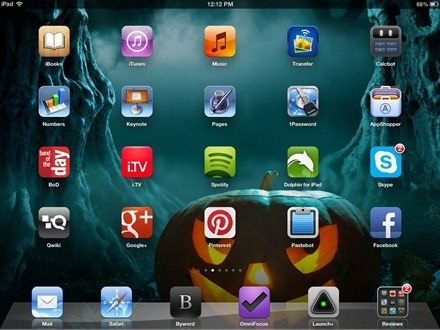 Halloween iPad home screen