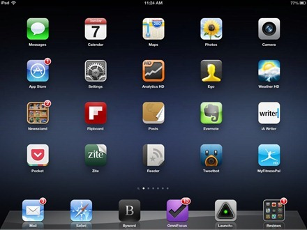 Purkly Blackness iPad home screen wallpaper