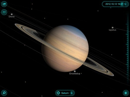 Solar Walk - Saturn iPad app