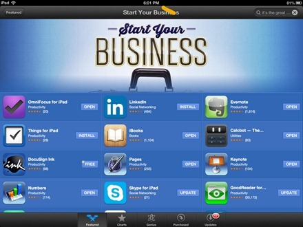 Start Your Business iPad App Store