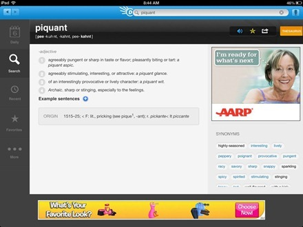 Dictionary.com Dictionary & Thesaurus for iPad