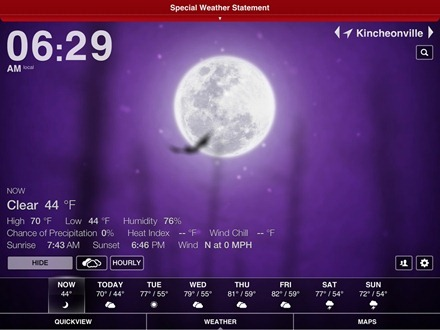 Weather HD iPad Halloween Theme