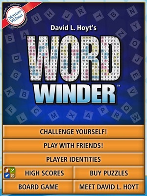 Word Winder HD iPad Game