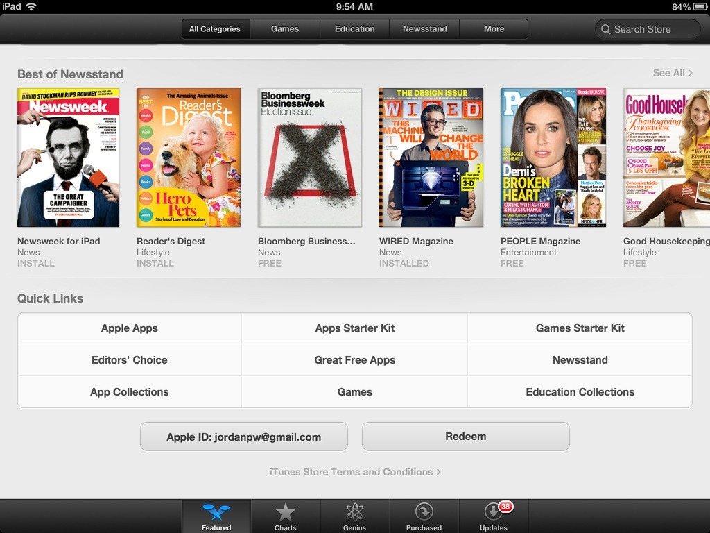 how to change store in ipad