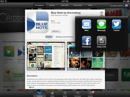 iPad App Store in iOS 6