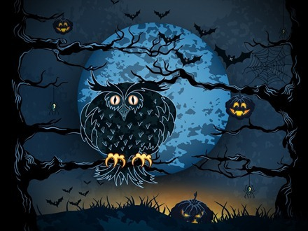 iPad Halloween Cartoon wallpaper