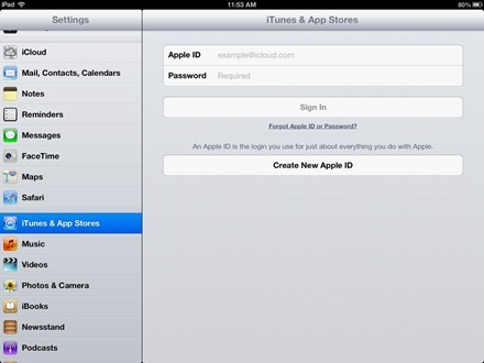 iPad New Apple ID