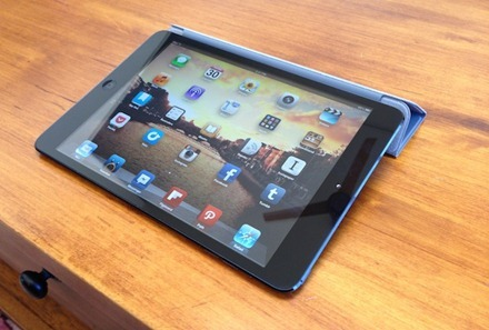 iPad mini in smart cover stand