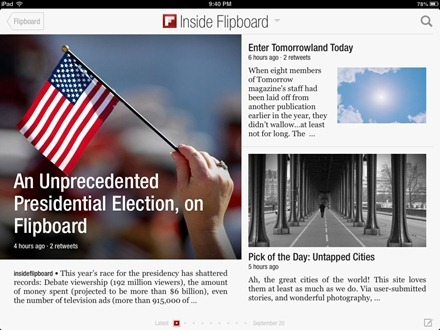Flipboard on iPad mini