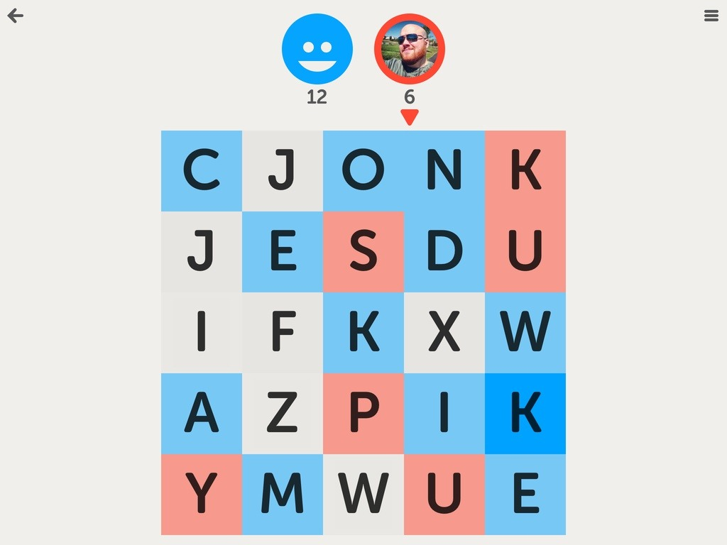 Letterpress word game for iPhone