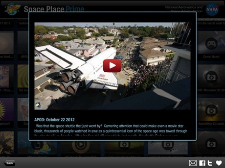 Space Place Prime iPad app