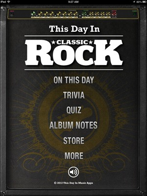 This Day in Classic Rock iPad app