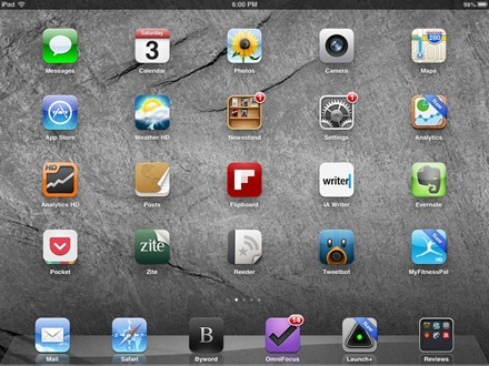iPad mini home screen
