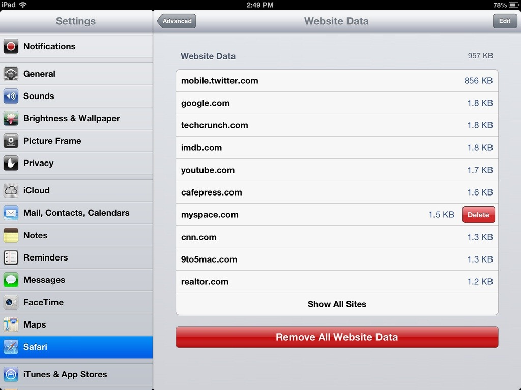 Pictures to how from delete ipad