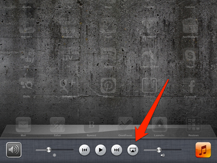 AirPlay Mirroring Button on Multitasking Bar