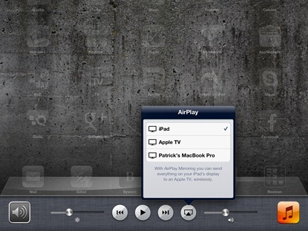 AirPlay Popover