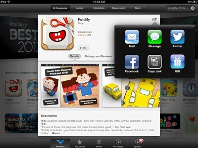 Gift an App on iPad
