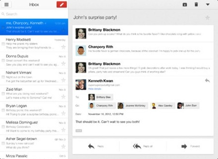 Gmail for iPad