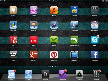 Graphite Teal iPad home screen wallpaper