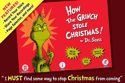 How the Grinch Stole Christmas iPad Storybook