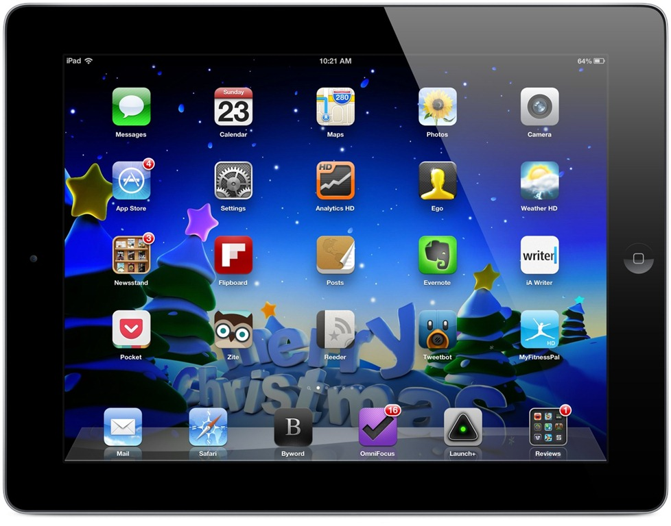 Weekend ipad wallpapers christmas themed ipad insight for Best home screen wallpaper for ipad