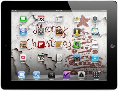 Merry Xmas iPad home screen2