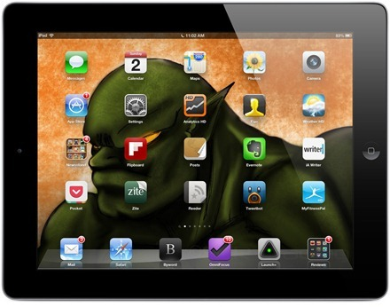 Orc iPad home screen
