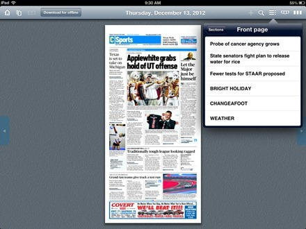 Sections Front Page