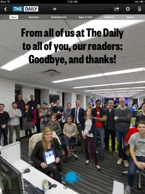 The Daily Says Goodbye