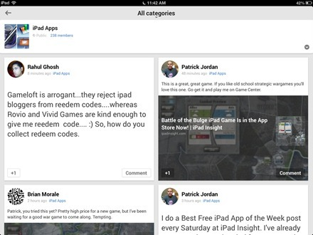 iPad Apps Community