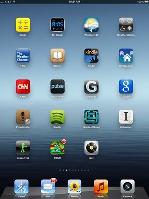 iPad Home Screen 2