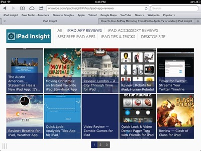 iPad Insight Mobile theme