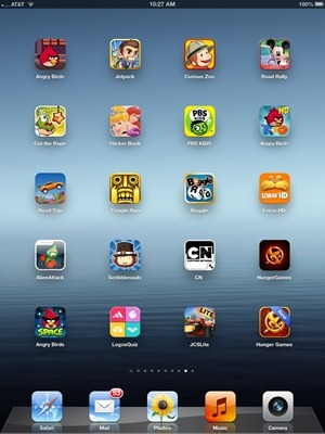 iPad home screen 8