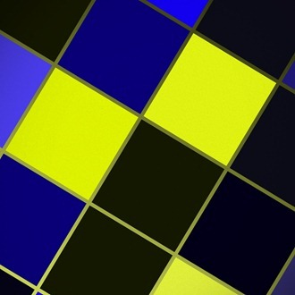 Black Blue Yellow Squares iPad wallpaper