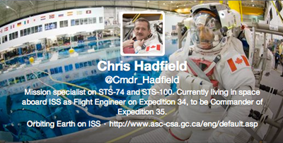 Commander Chris Hadfield Twitter