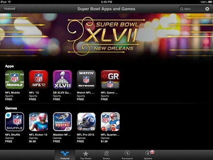 Super Bowl Apps