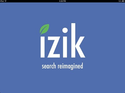 izik iPad Search app