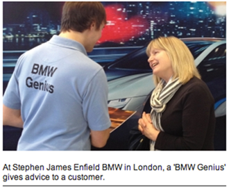 BMW Geniuses with iPads
