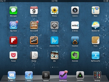 Blue Wall iPad home screen